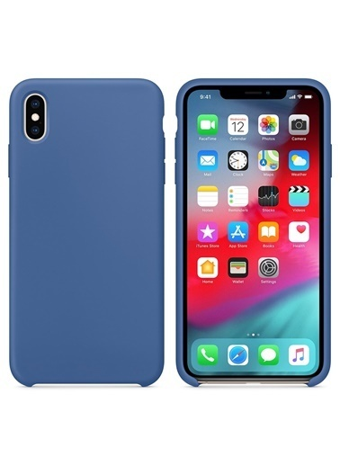 Bludfire Apple iPhone XS Max Kılıf Liquid Lansman Silikon Çini Mavisi Mavi